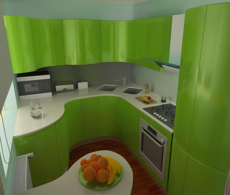 дизайн малогабаритной кухни гостиной фото